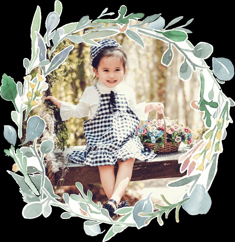Fairytales Fertility floral border child image